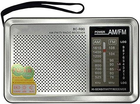 Morelyfish Regalos Mayores Receptor Mini BC-R90 Bolsillo Radio portátil multifunción Am/FM/SW del Reproductor de música: Amazon.es: Electrónica