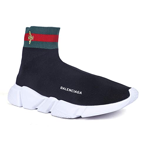 5efa91370346 Balenciaga Speed Trainer Black Imported Sneakers for Men  Buy Online at Low  Prices in India - Amazon.in