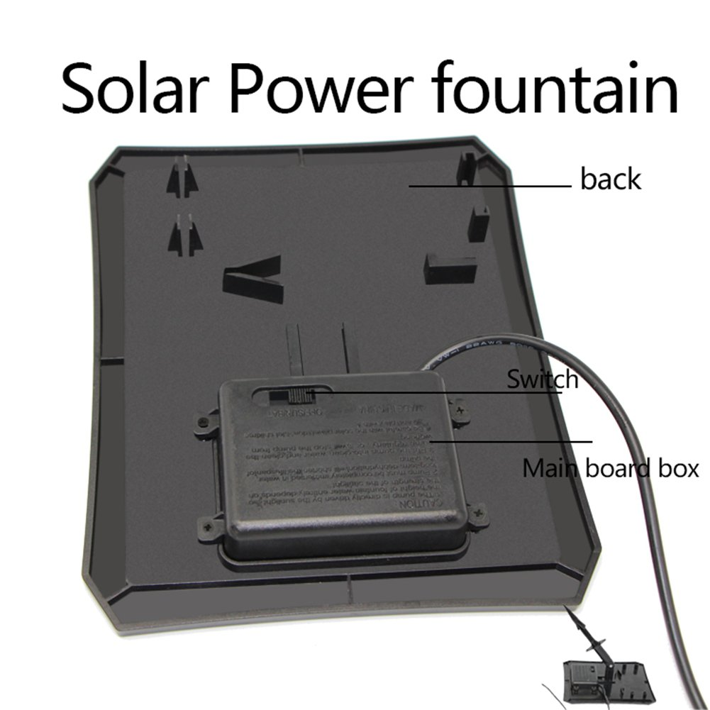 Solar color/ée de RC-608/LED con el Panel Solar Bomba de Agua Solar de jard/ín gaeruite Fuente Solar Bomba Exterior Fuente de Agua