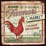 Farmer s Market 2018 12 x 12 Inch Monthly Square Wall Calendar by Hopper Studios, Food Art Artwork