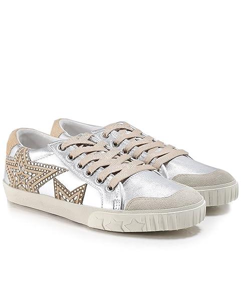 6663bbc9edb35 Ash - Magic Star Trainer Shoe, Silver/Beige Silver: Amazon.co.uk ...