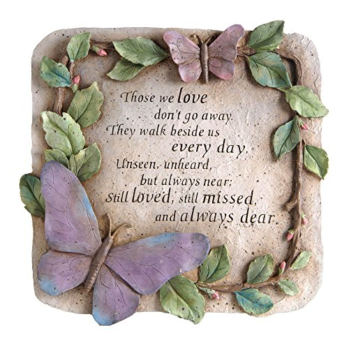 - New Creative Evergreen Garden Those We Love Don't Go Away Polystone Memorial Stepping Stone - 10