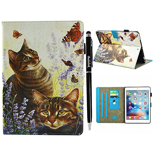 Badalink iPad Pro Case 10.5'' with Auto Sleep & Wake Function, Protective Painting Wallet Case PU Leather Stand Feature Cover Soft TPU Interior Magnetic Shell with Stylus Pen for iPad Pro 10.5 - Cat by Badalink (Image #7)