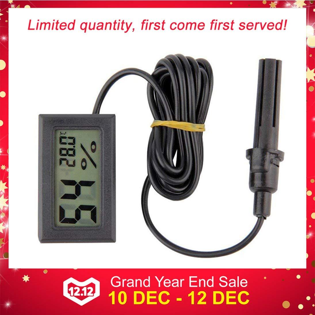 FY-12 Mini LED Digital Term/ómetro Higr/ómetro Temperatura Humedad Medida Probador Monitor Interior Autom/óvil Hogar ToGames-ES