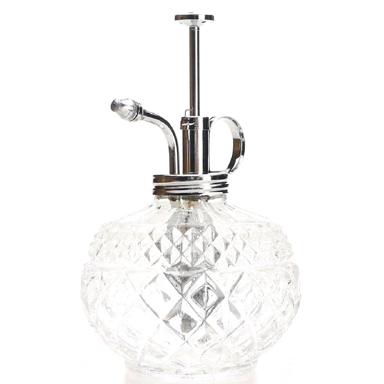 Purism Design estilo planta mister- botella de cristal y pulverizador de latón: Amazon.es: Jardín
