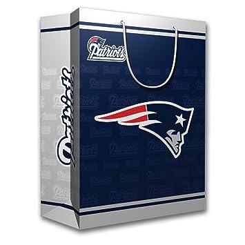 Amazon.com : NFL New England Patriots Gift Bag, Medium : Patriots ...
