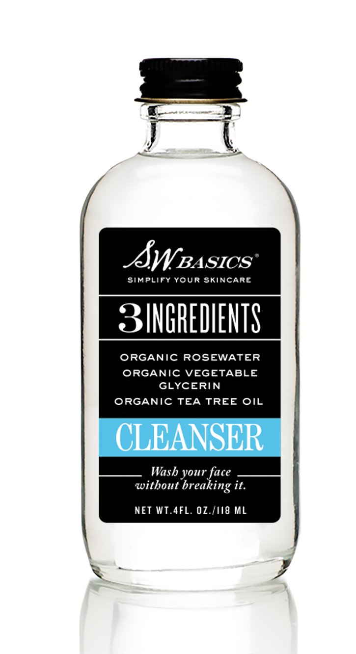 S.W. Basics Cleanser (4.0 fl. oz.) - Natural Rosewater and Tea Tree Oil Face Wash