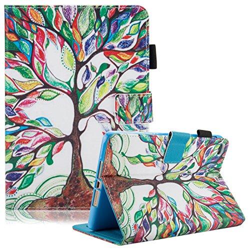 iPad Mini 4 case, iPad Mini 2/3/4 Case 7.9 inch, Slim Premium Leather Folio Stand Cover Case with Auto Wake/Sleep Function [Card Slots] Magnetic Closure Wallet Case for iPad Mini 4/3/2, Life Tree