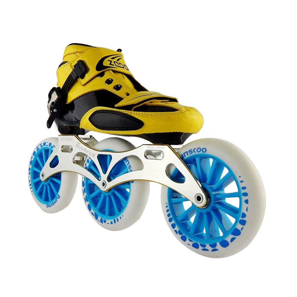 ailj スピードスケートシューズ3 * 125MM調整可能なインラインスケート、ストレートスケートシューズ(5色) (色 : 黒, サイズ さいず : EU 42/US 9/UK 8/JP 26cm) B07HVM65XV EU 34/US 3/UK 2/JP 22cm|青 青 EU 34/US 3/UK 2/JP 22cm