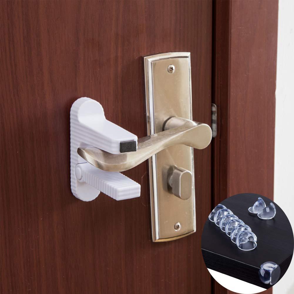 2 Pack Door Lever Lock Roomdiary Child Proof Doors Handles Child