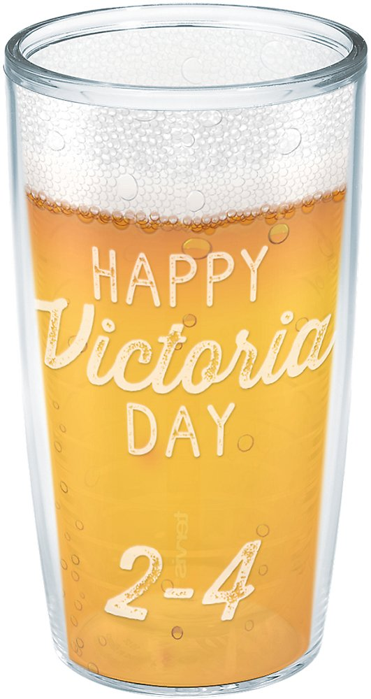 16oz Tervis 1261789 Canada-Happy Victoria Day 2-4 Insulated Tumbler with Wrap Clear