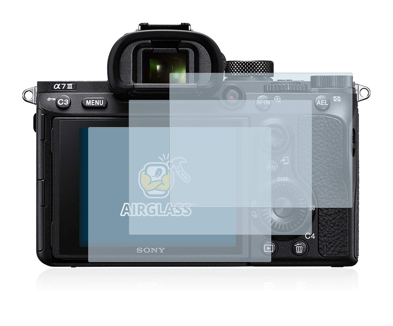 AirGlass BROTECT Protector Pantalla Cristal Compatible con Sony Alpha 7 III 3 Unidades - Vidrio 9H