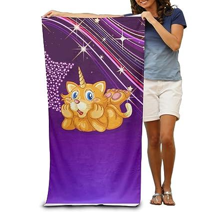 Tiger Unicorn - Toalla de baño, suave, lavable a máquina, fácil cuidado,