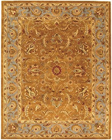 Safavieh Heritage Collection HG812A Handcrafted Traditional Oriental Brown and Blue Wool Area Rug 12' x 15'