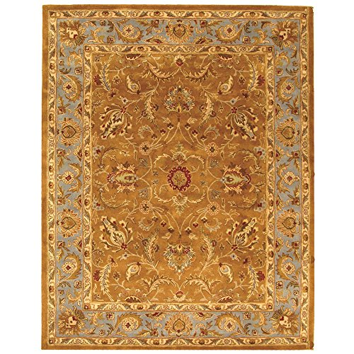 Safavieh Heritage Collection HG812A Handcrafted Traditional Oriental Brown and Blue Wool Area Rug (11' x 17')
