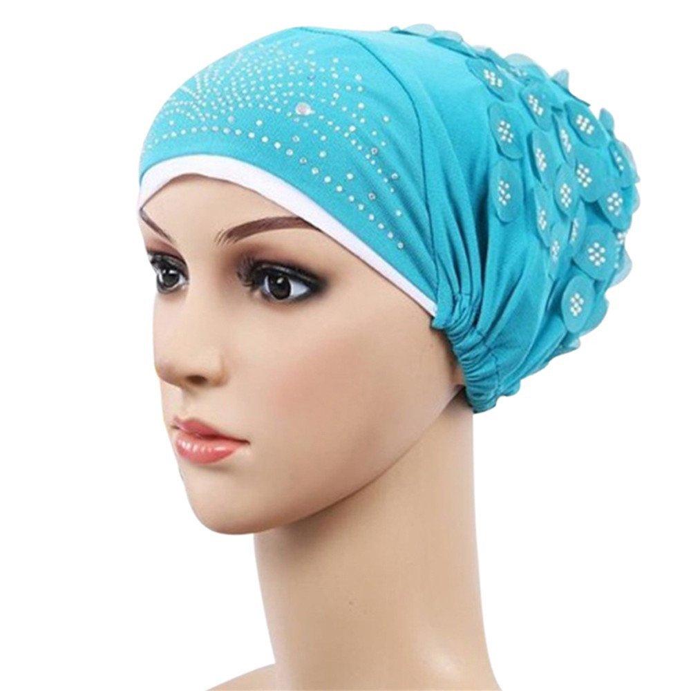 Amazon.com: Trenton Womens Muslim Stretch Turban Hat Chemo Cap Hair Loss Head Hijab Cap: Clothing