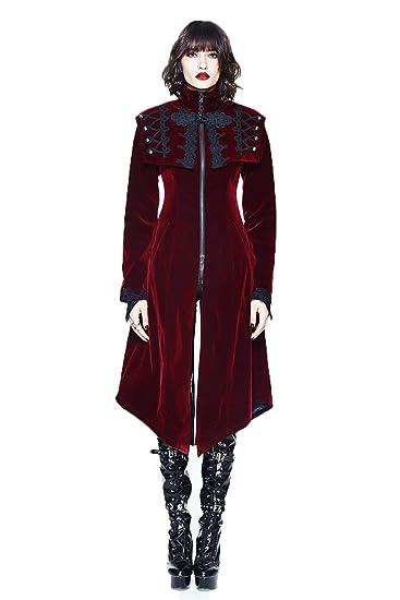 bc051e37e6784e Devil Fashion Frauen Winter Gothic viktorianischen Barock Long Coat Frauen  Steampunk Vintage Style Jacke