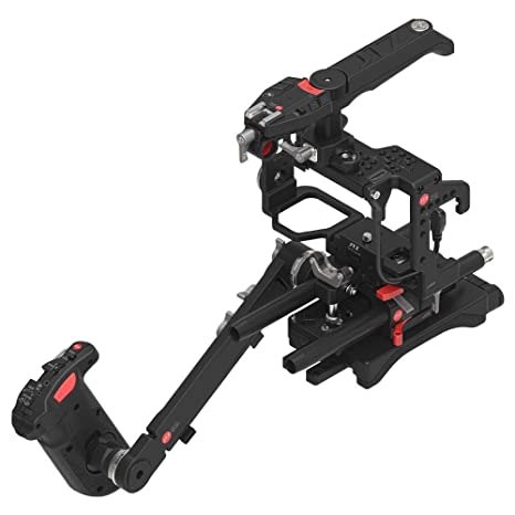 jtz DP30 - Baseplate Jaula de cámara DSLR Rig & mango para Sony ...