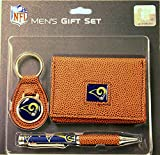 NFL Licensed Pebble Wallet Keychain Pen Gift Set (St. Louis Rams)