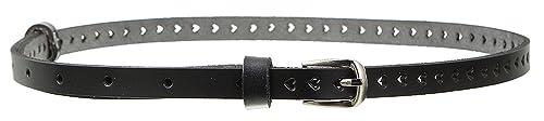 EOZY-Cintura a Cuore Hollow da Donna Waistband Sottile Decorativa Eco Pelle Belt