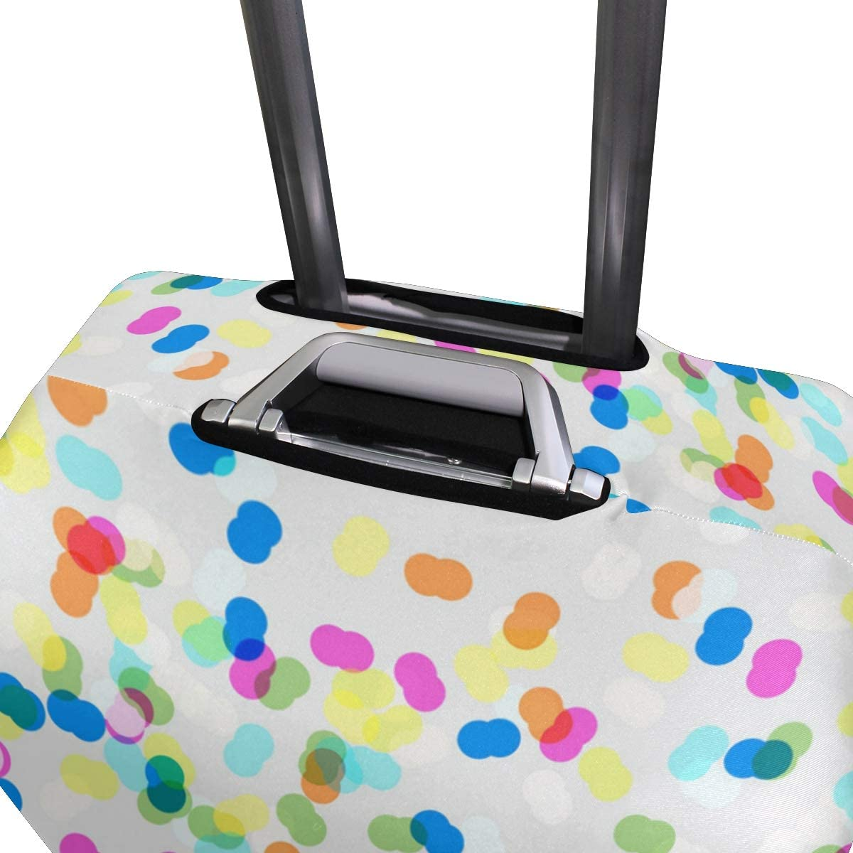 Colorful Christmas Bubbles Travel Luggage Protector Case Suitcase Protector For Man/&Woman Fits 18-32 Inch Luggage
