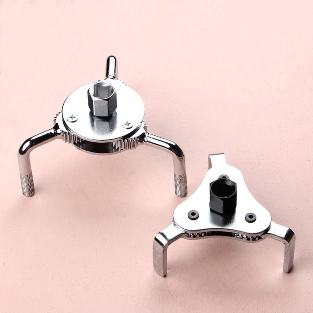 Vorcool Two Way 3 Leg Dual Drive Oil Fuel Filter Wrench Removal Tool Remover Silver T111537wwr