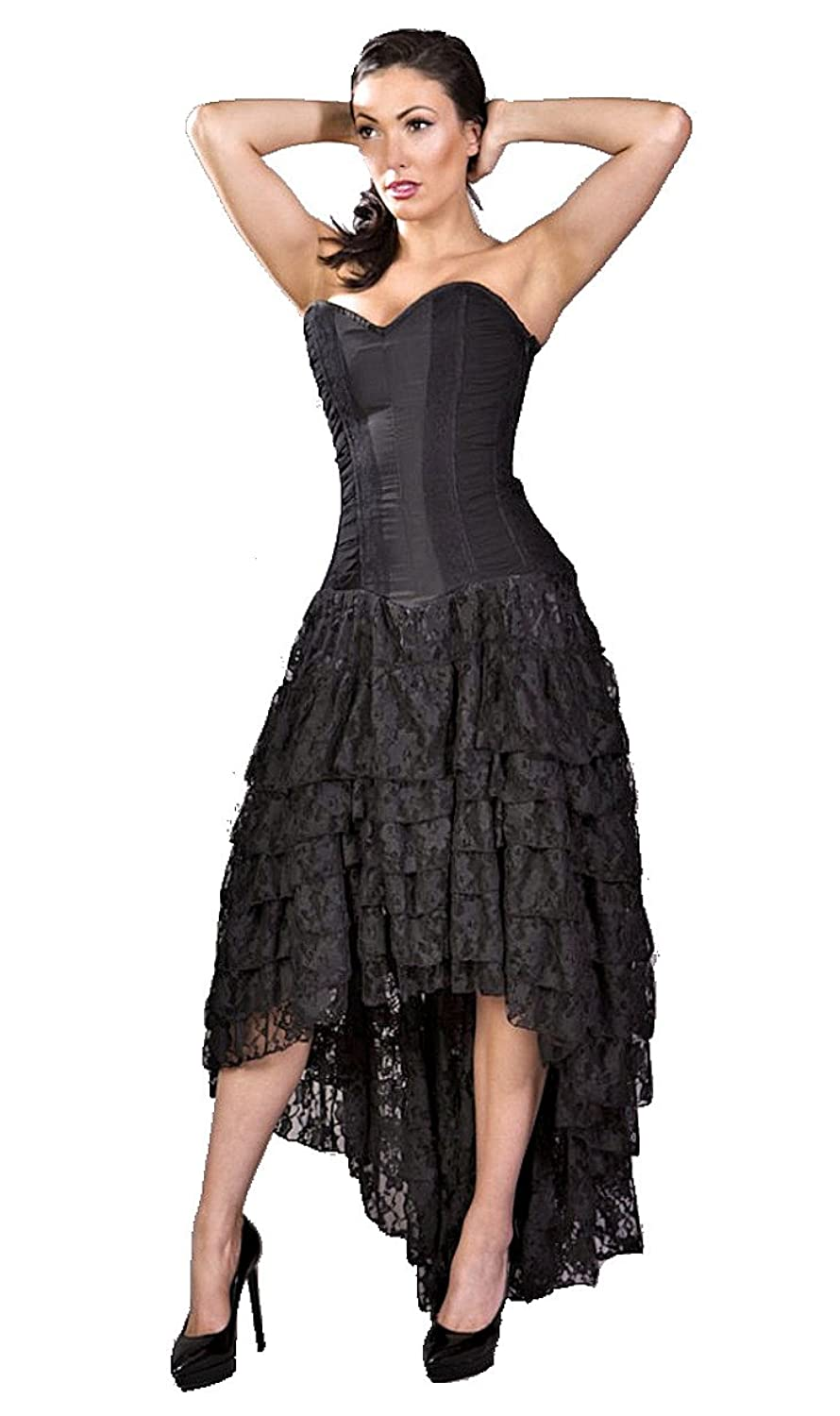 Steampunk Dresses and Costumes Helena Steampunk Corset Dress $159.99 AT vintagedancer.com