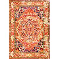 nuLOOM Traditional Flower Medallion Runner Area Rug, 2 6 x 8, Orange