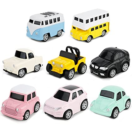 Tire Vehículos El Camion Y Atrás 8 De NiñasPack Coches Miniature Niños Modelos Hacia Juguetes Para y6Yfgbv7