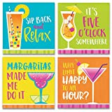 Summertime Cocktail Napkins Variety Pack - 64ct