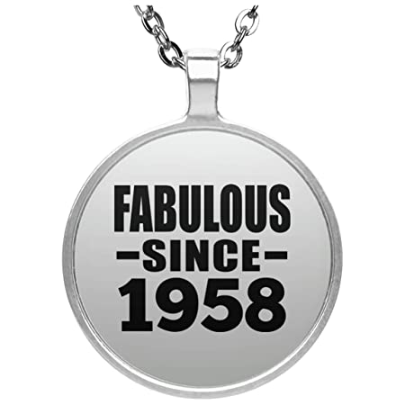 61st Birthday Fabulous Since 1958 - Round Necklace Collar ...