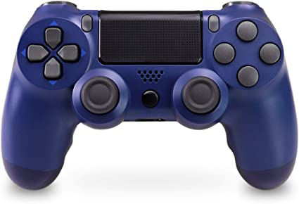 Mando Inalámbrico para PS4, Mando Inalámbrico Gamepad Doble Vibración Seis Ejes Mando Game Compatible con Playstation 4/PS4 Slim/PS4 Pro (Azul Medianoche): Amazon.es: Electrónica