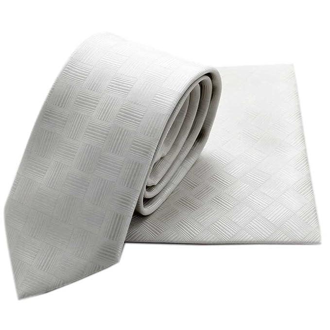 MALUFA Conjunto Corbata y Pañuelo monocolor textura: Amazon.es ...