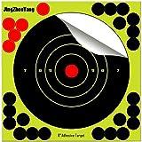 JingZhouYang Shooting Targets 6.5 Inch Self Adhesive Paper Reactive Splatter Targets Stickers 100 & 75 & 50 & 40 & 25 Pack fo