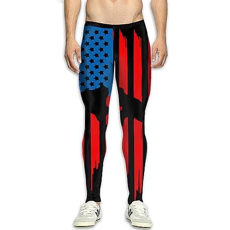 e02110279a298 Yang Hai Lin Wrestling American Flag Men's Sports Compression Legging Tights  Pants Thermal Pant
