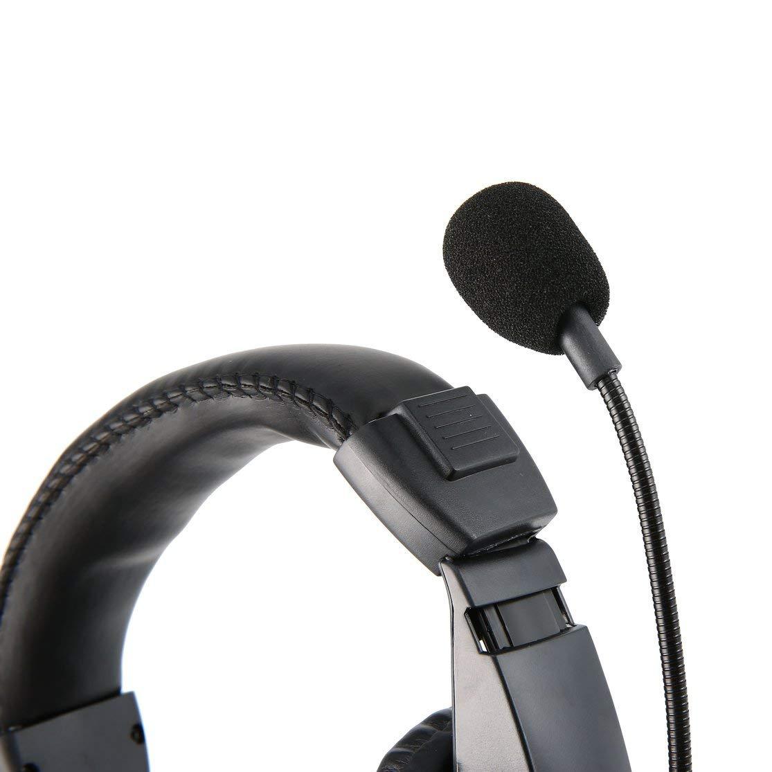 LouiseEvel215 Professionelle Kopfh/örer mit Rauschunterdr/ückung und VOX-PTT-Boom-Mikrofon f/ür 2-polige Kenwood-Kopfh/örer