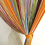 Colorful Window Fringe Wall Panel Room Divider Strip Tassel Line String Curtain