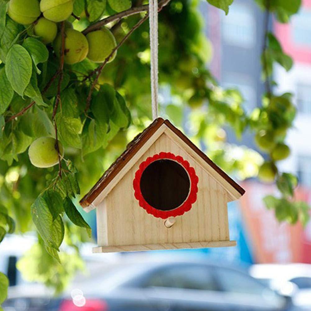 pour Petits Oiseaux 17.5x16x15cm waterfaill Bird Hotel Nid De Nichoirs en Bois Bird House Nid /À Oiseaux Durable