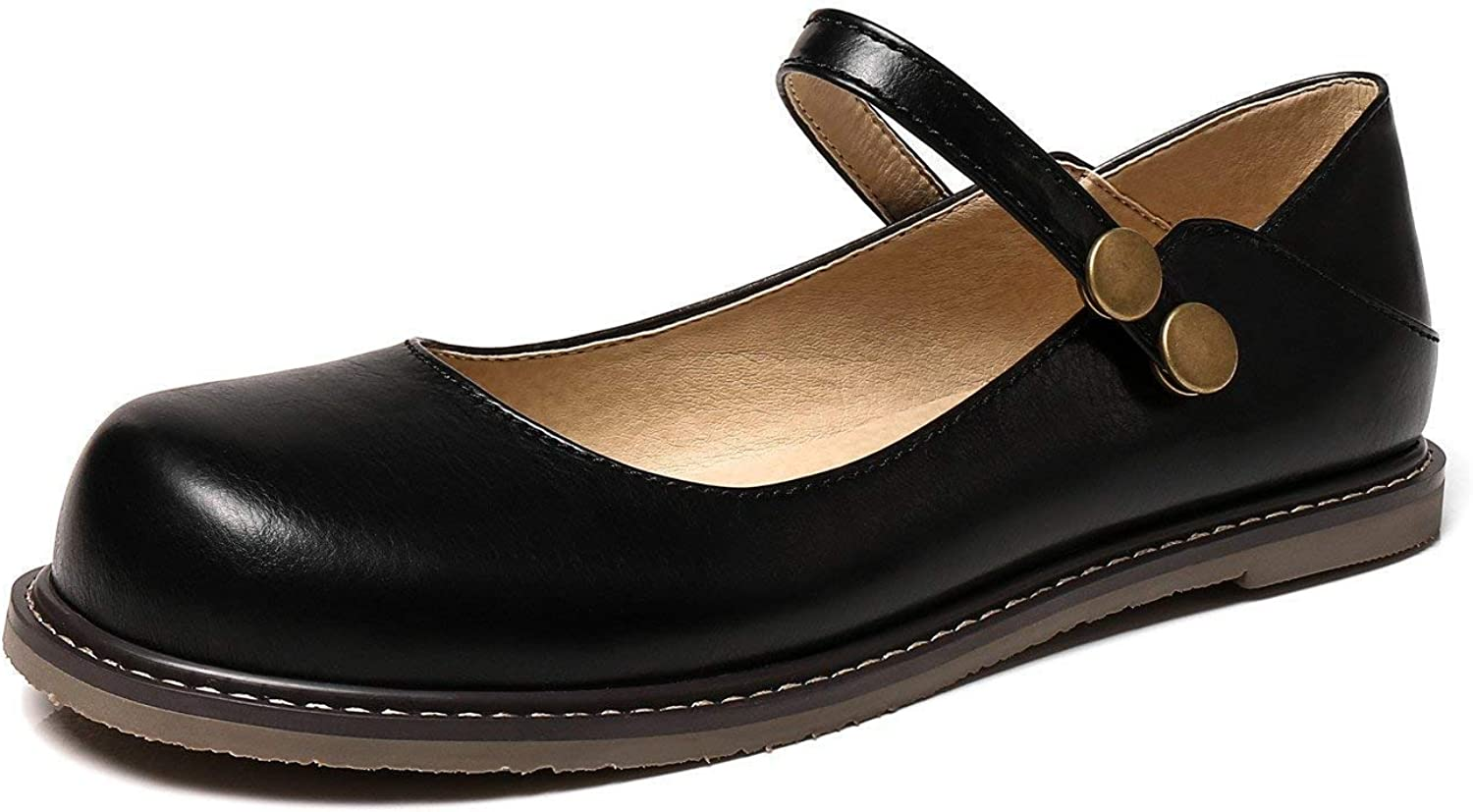 LADIES NEW COMFORT FLAT CASUAL WALKING OFFICE MARY JANE PUMPS LOAFERS SHOES SIZE