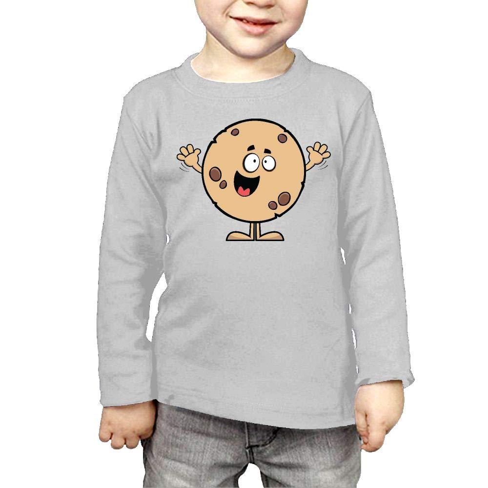 Fryhyu8 Newborn Kids Cookie Printed Long Sleeve 100/% Cotton Infants T Shirts