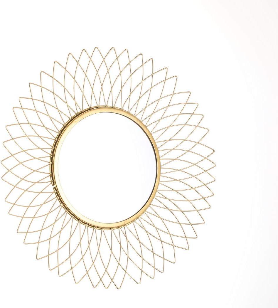 JHY Design Miroir /à suspendre en m/étal Motif tournesol 36 cm de diam/ètre