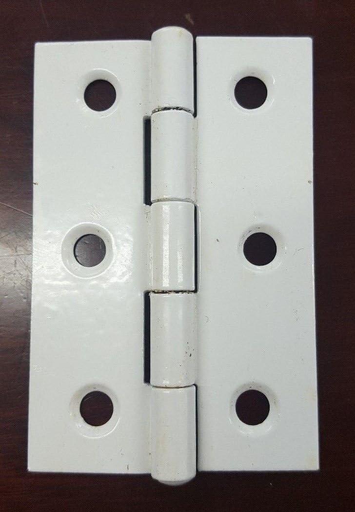 White Butt Hinge 3 x 2 76mm x 50mm One Pair