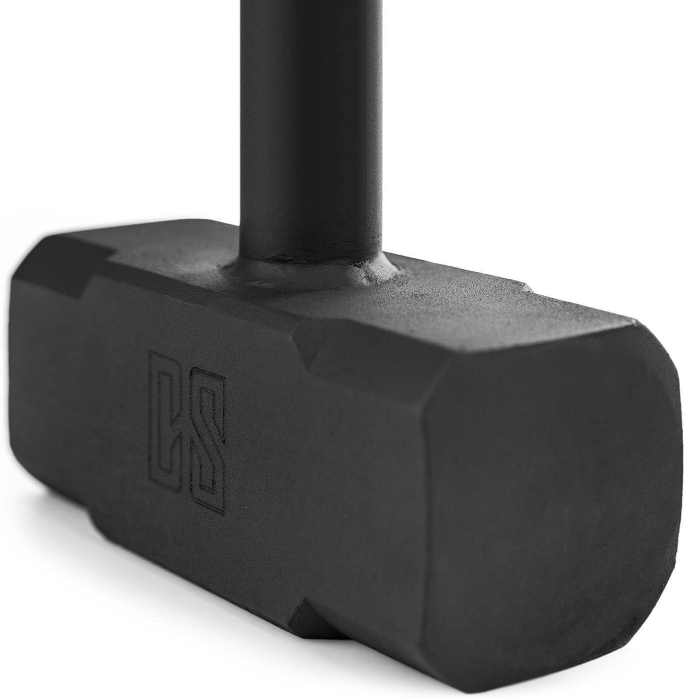 Griffl/änge: 86 cm Gym-Hammer Fester Gripp schwarz Gewicht: 6-25 kg Capital Sports Big Knock Training Hammer Stahlguss Griffdurchmesser: 3-4 cm Fitness-Hammer