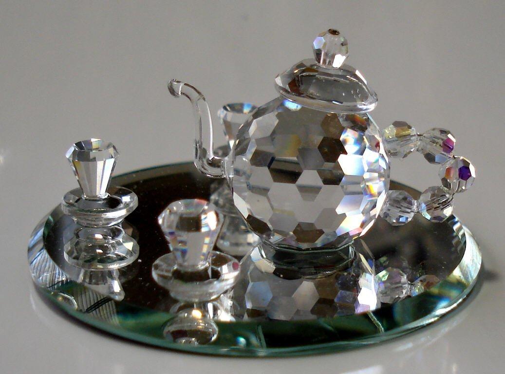 Bjcrystalgifts Crystal Tea Set Handcrafted by The Artisans at Using Swarovski Crystal