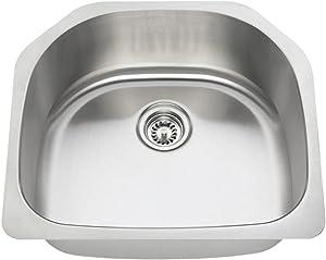 2421 16-Gauge Undermount Single Bowl Stainless Steel Kitchen Sink
