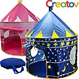 Kids Tent Toy Prince Playhouse – Toddler Play House Blue Castle for Kid Children Boys Girls Baby for Indoor & Outdoor Toys Foldable Playhouses Tents with Carry Case Great Birthday Gift Idea by Creatov