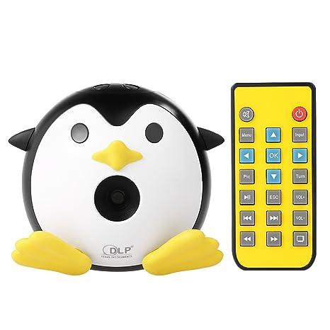 Amazon.com: Walmeck Q1 - Mini proyector de pingüino DLP ...