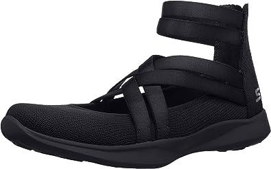 Skechers Women's Serene Dream Sneaker, Black, 7.5 M US