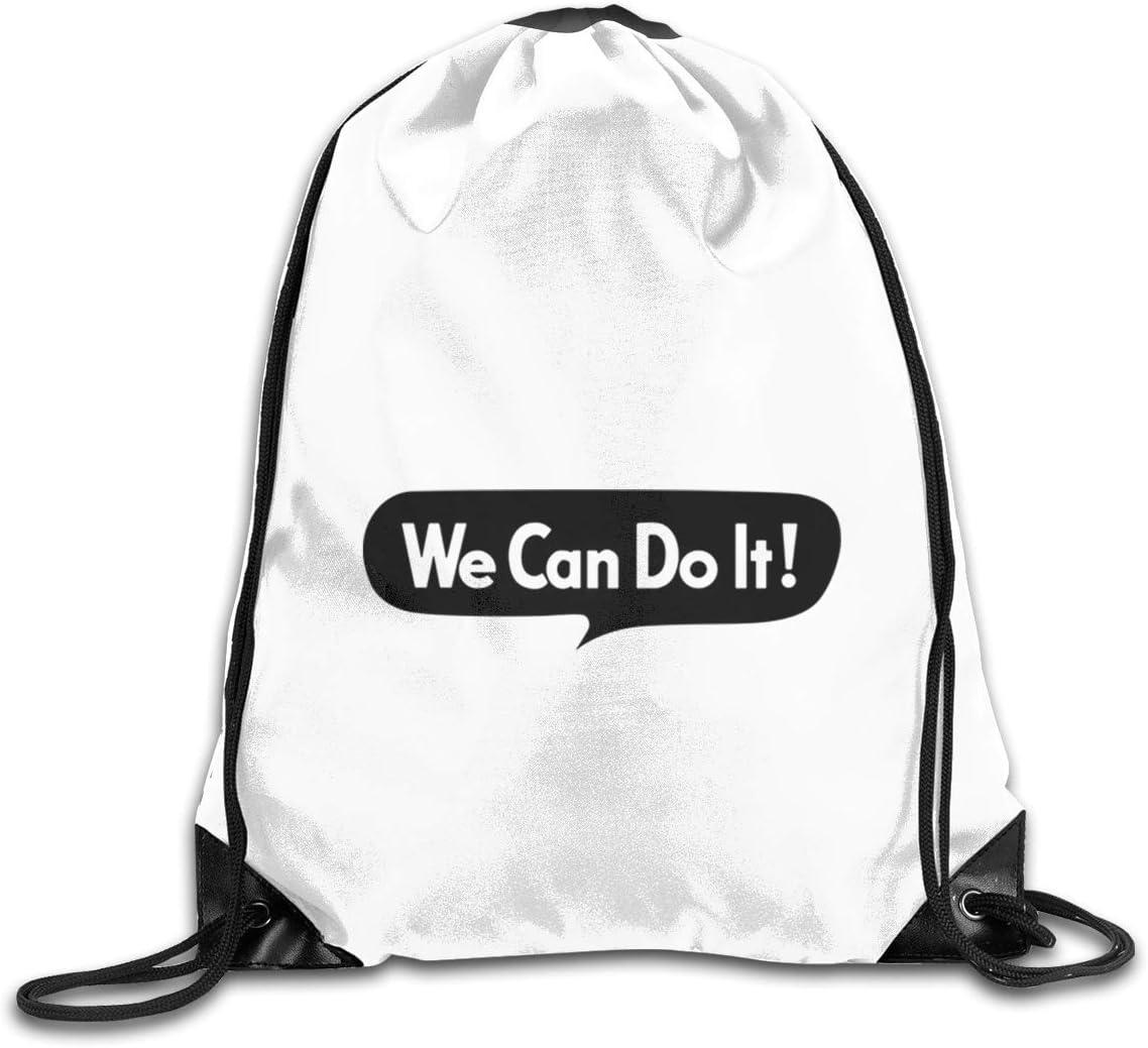 Rosie The Riveter Drawstring Bags Eat Sleep Dance Repeat Beam Mouth Backpack Basketball Tennis Gympack