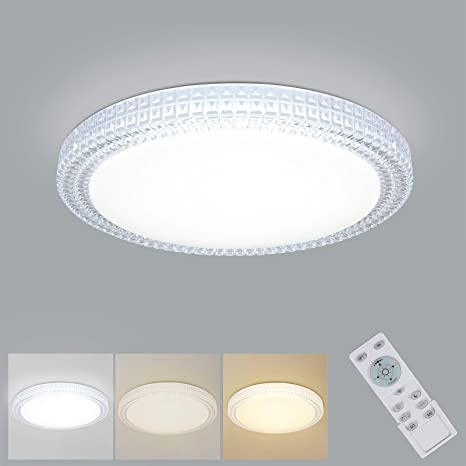 Amazon Com Oowolf Led Ceiling Light 40w 15 4 Inch 3000 6000k Dimmable Led Fixture Lamp Brightness Adjustable Ceiling Light With Remote For Bedroom Kitchen Living Room Balcony Stairways Home Improvement